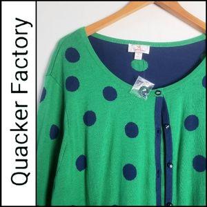 NWOT. QUACKER FACTORY 2 in 1 Cardigan Sweater!